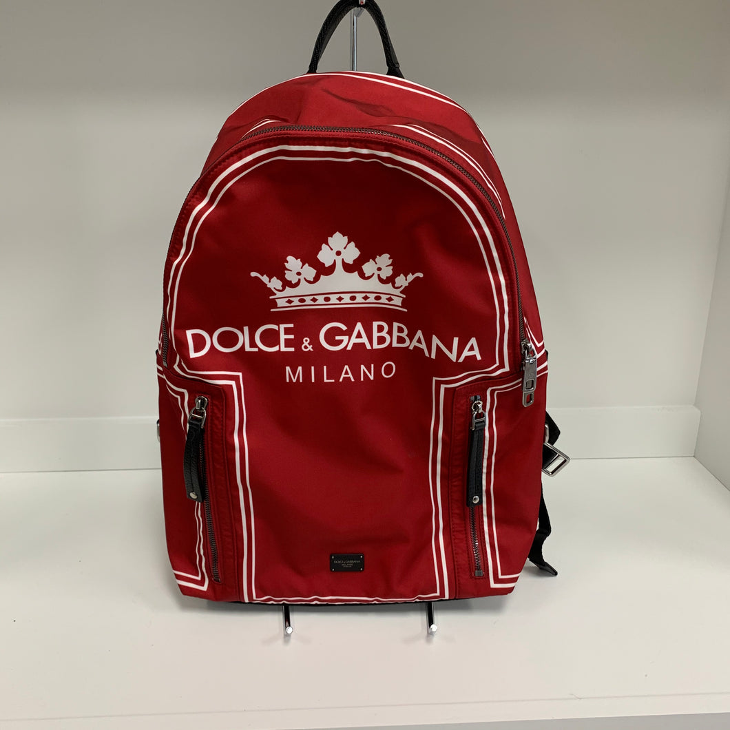 Dolce & Gabbana Heritage Crown Backpack-Red