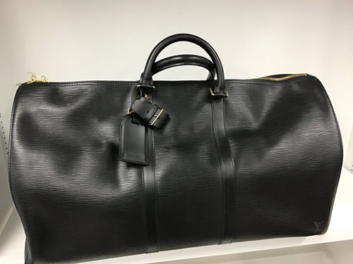 LOUIS VUITTON BLACK EPI KEEPALL 60