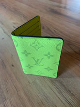 Load image into Gallery viewer, Louis Vuitton Taigarama SS19 Neon Yellow Monogram Pocket Organizer  Card Holde