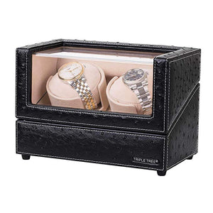TRIPLE TREE leather double watch winder-main