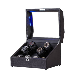 JINS&VICO 4+4 leather watch winder-open