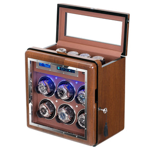 [ New Arrivals ] 6+4 Walnut Wood Automatic Quad Watch Winder
