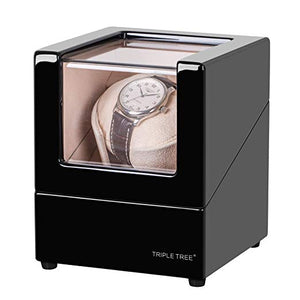 TRIPLE TREE black wood single watch winder-main