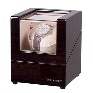TRIPLE TREE brown wood single watch winder-main