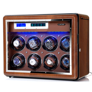 [ New Arrivals ] 8+6 Walnut Wood Automatic Quad Watch Winder