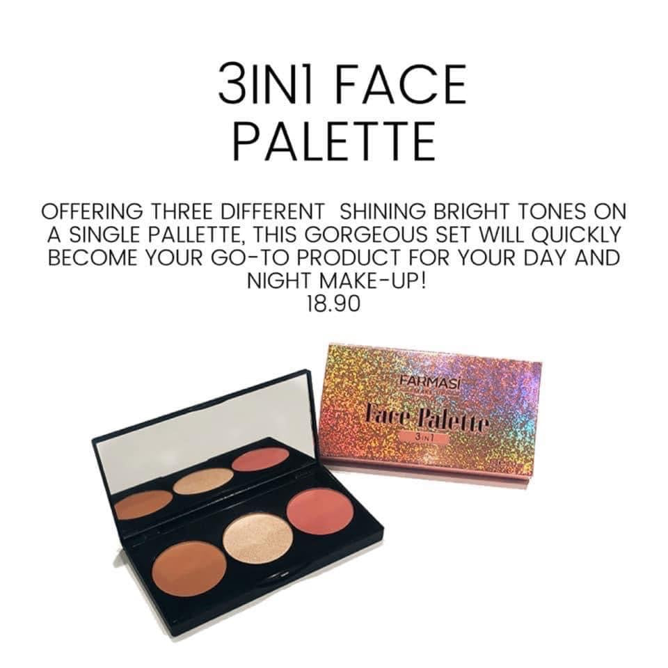 Farmasi 3 in 1 Face Palette