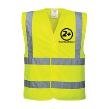 Load image into Gallery viewer, Social Distancing 2+ - Hi-vis Waistcoat EN471.2 - YELLOW Various Sizes