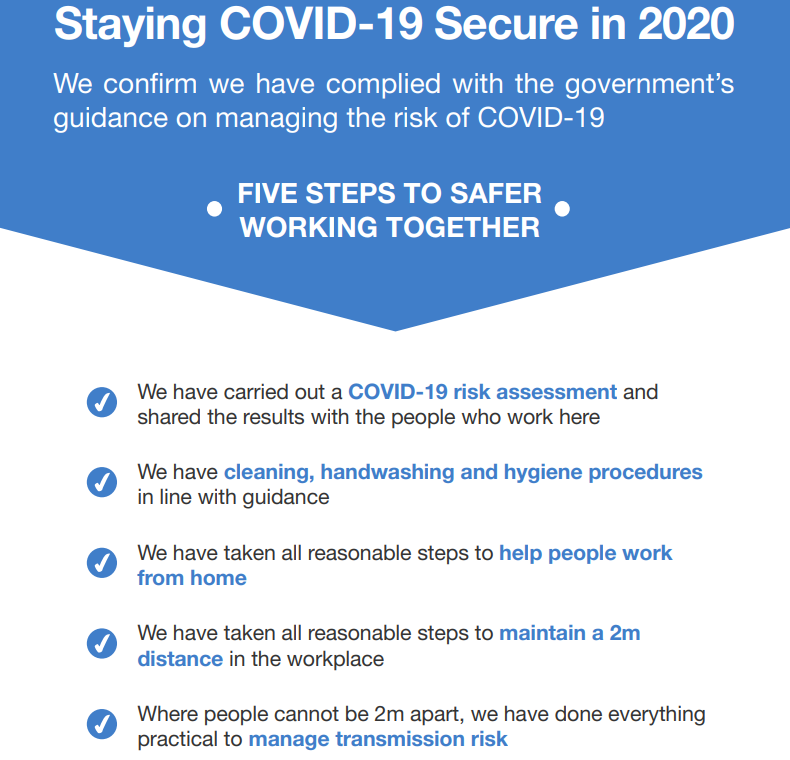 UK Government COVID Secure Poster