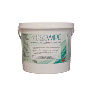 Surface Viral Sanitiser Wipes High Performance - Tub of 225 wipes