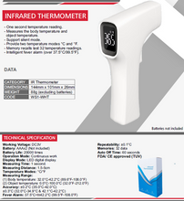 Load image into Gallery viewer, Infrared Digital Thermometer for Non Contact Body Temperature Testing