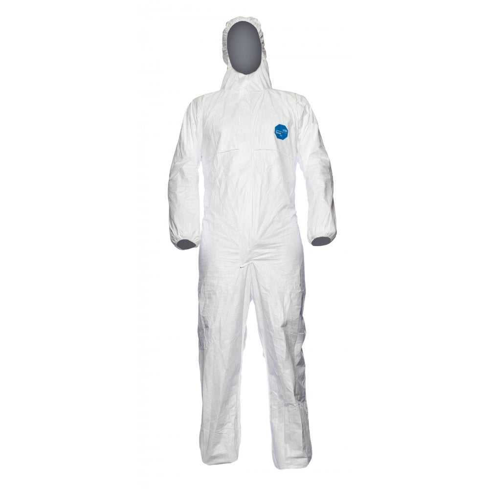 DuPont Tyvek 500 Xpert Protective White Hooded Coverall - Size XL - EN14126 Rated