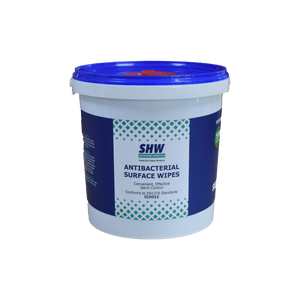 SHW Antibacterial Surface Wipes - Tub of 500 Wet Wipes