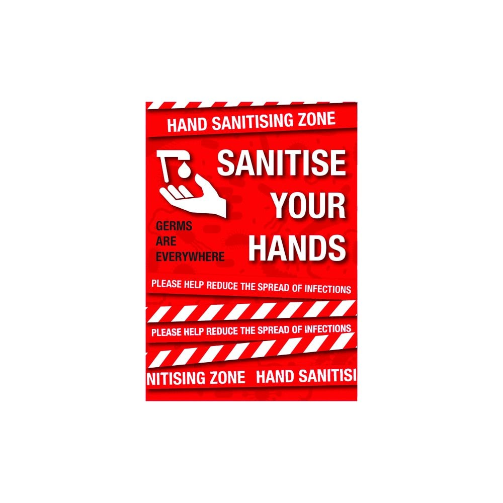 Sanitise Your Hands  - Various Sizes and Finish Options