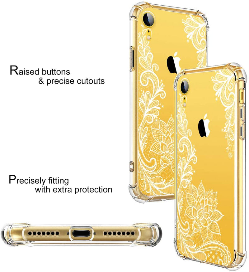 IPhone XS Case White and Yellow Floral