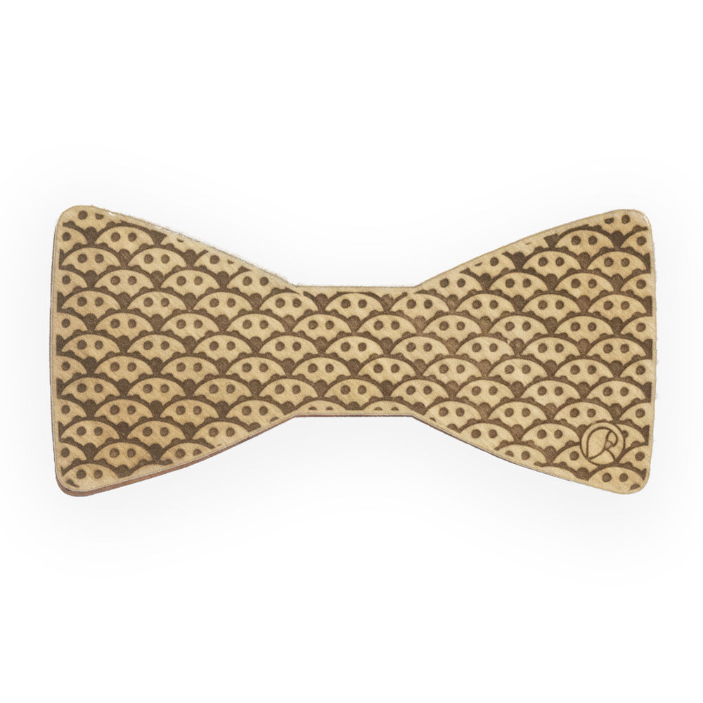Wooden bow tie - Waves