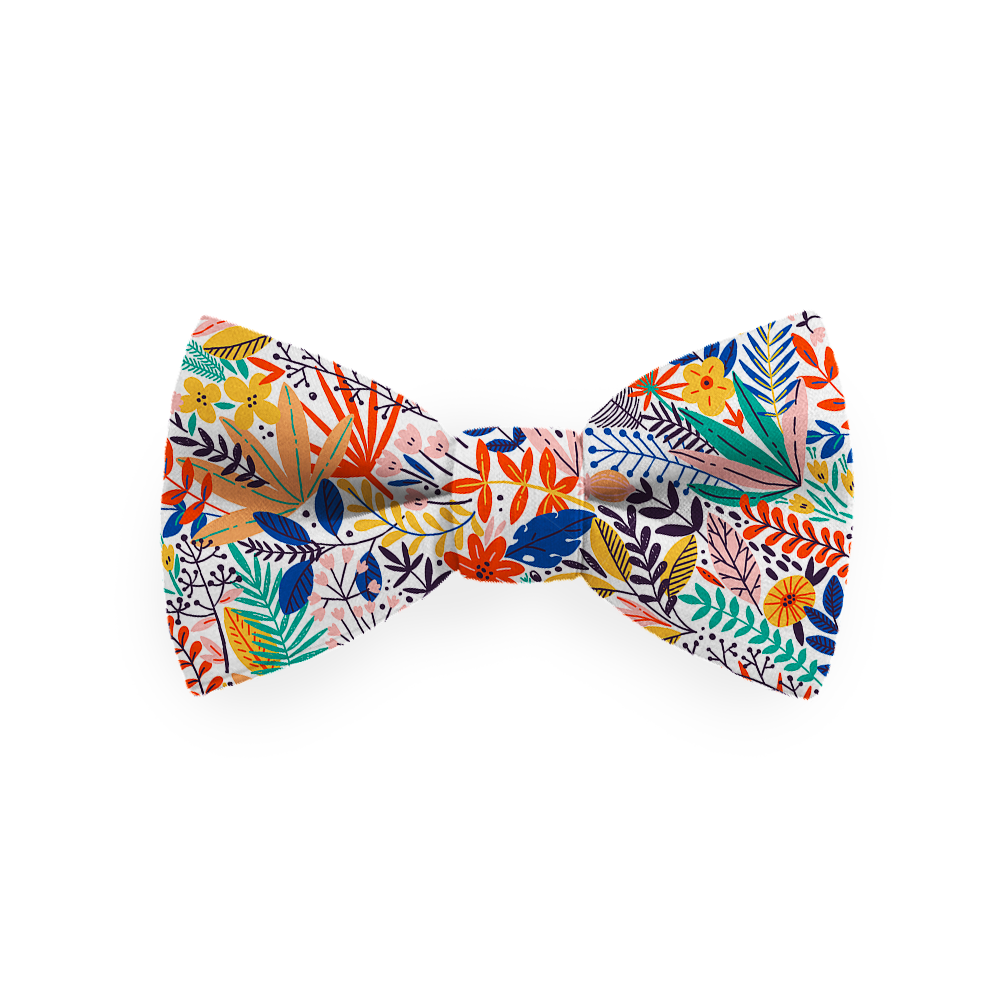 Bow tie - Botanical Orange
