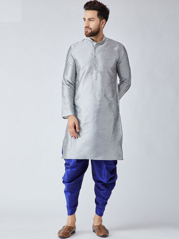 [SoldOut] Grey and Blue Kurta with Harem Pants