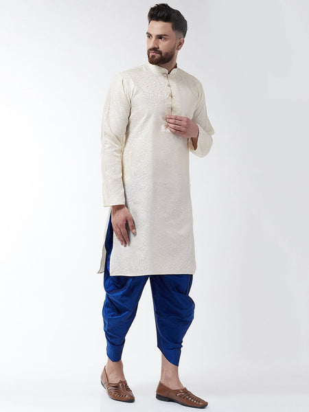 [Available] Cream and Royal Blue Kurta & Harem Pants