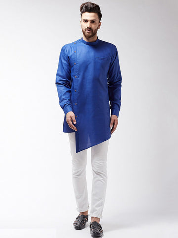 [Available] Blue Slit cut Kurta