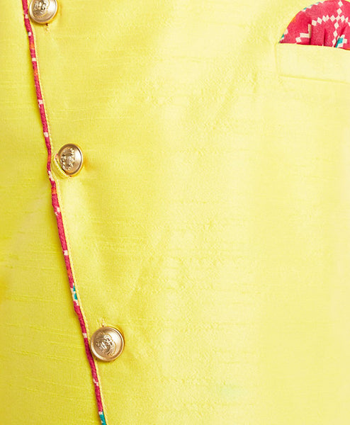 [Pre-Order] Yellow Top with Printed Dhoti Pants