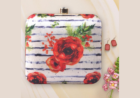 Rose Clutch in White and Red <Pre-Order>