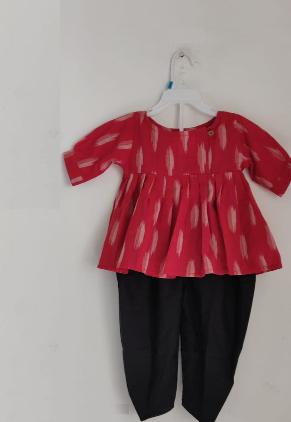 [Available] Girls Red & Black Kurta Dhoti Set [Size: 7-8 yrs]