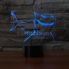 Load image into Gallery viewer, Shark Hologram Light
