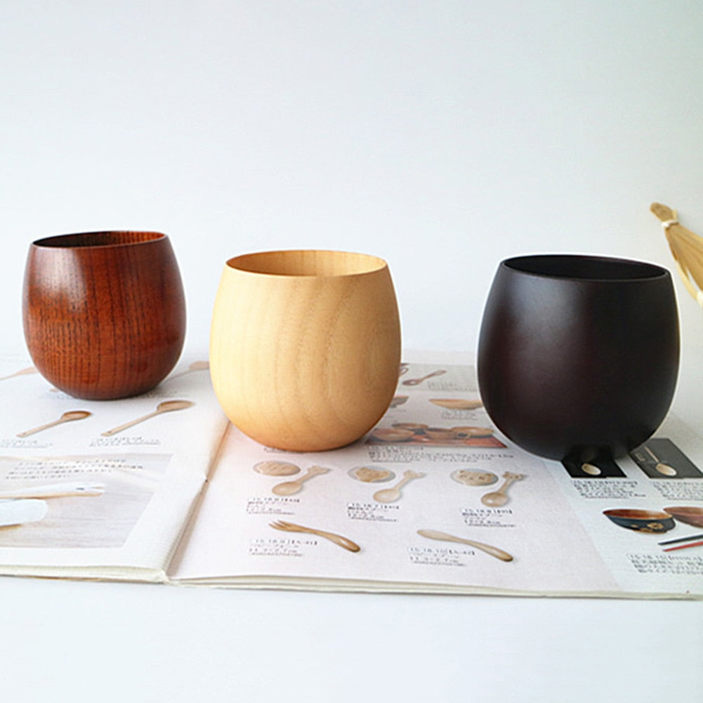Natural Spruce Wooden Cups - Paradigm Integrative