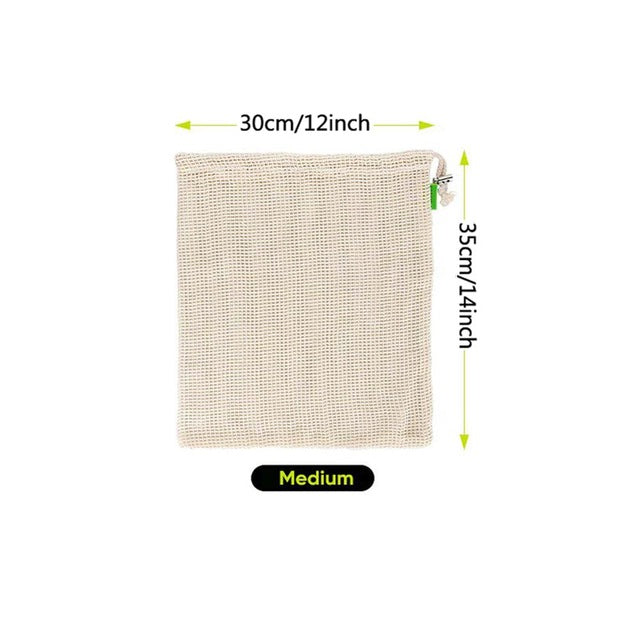 Eco-friendly Cotton Produce Bags - Paradigm Integrative