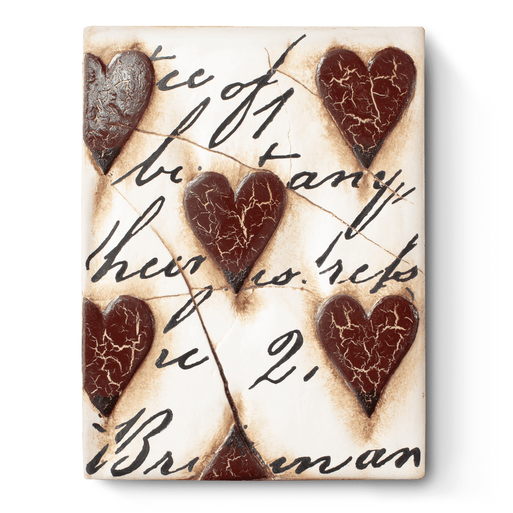 T 01 Red Hearts with Script Sid Dickens Memory Block