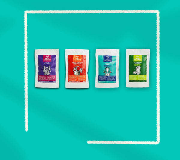 Tea Travellers Set - 4 x 80g Premium Loose Tea Range