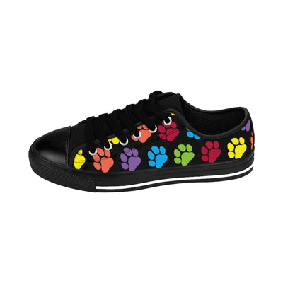 Paw Print Women's Sneakers (Black)
