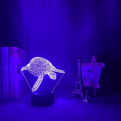 3D Illusion Tortoise Night Lamp