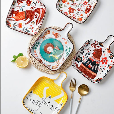 Animal Design Ceramic Baking Tray