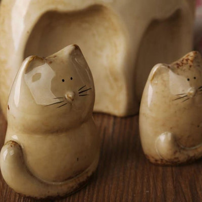 Cat Family Figurine