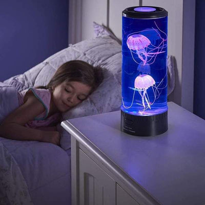 Calming LED Jellyfish Aquarium Lamp u2