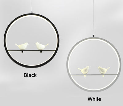 Modern Pendant Bird Light
