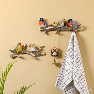 Bird Wall Decor and Hook