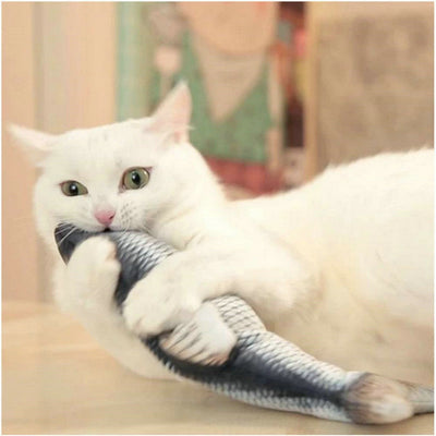 Playful Wiggling Fish Toy for Cats