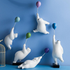 Playful Balloon Polar Bear Decor