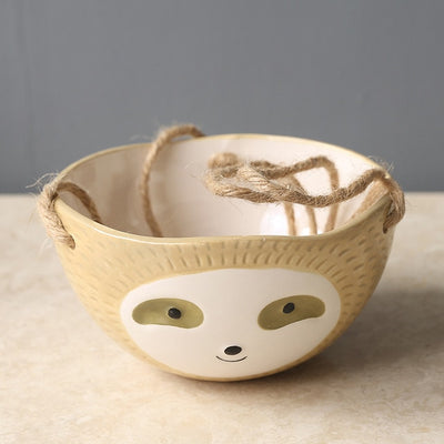 Handmade Hanging Sloth Planter
