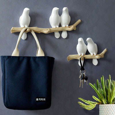 Stylish Bird Hook and Wall Decor