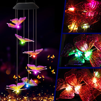 Hanging Solar Butterfly Lights