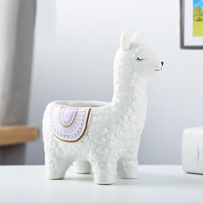 Mini Alpaca Ceramic Pot