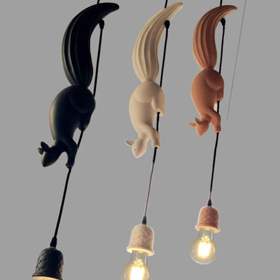 Hanging Squirrel Pendant Light