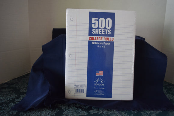 500 Sheet College Lined Notebook Paper