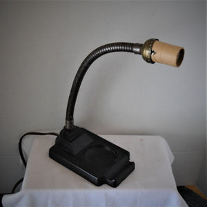 Vintage Industrial Art Deco Goose Neck Student Desk Lamp- Rex Electric Co. NYC