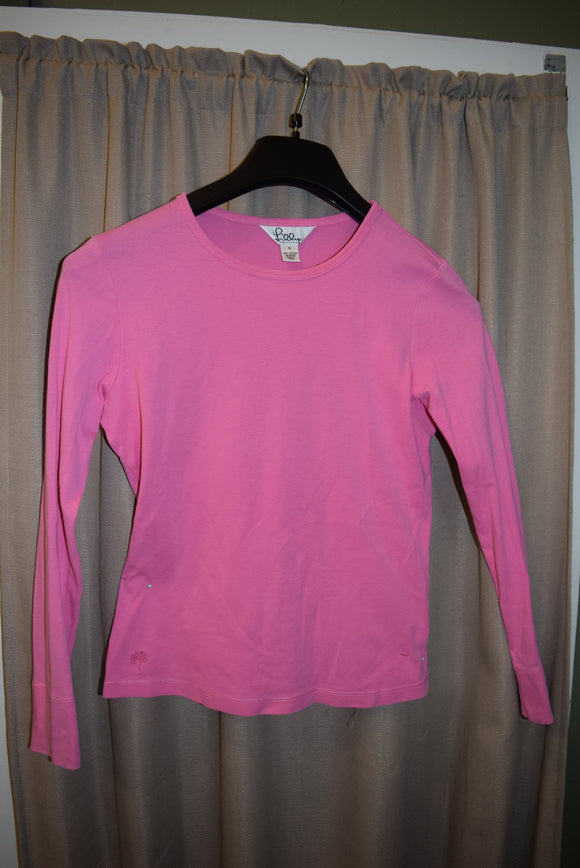 Lily Pulitzer 100% cotton Pink Top Women small