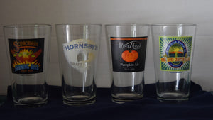 Collectible Beer and Ale 12 oz Glasses (Must be over 21 to purchase)