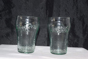 Set of 2 Frosted Mini Coke Cola Glasses